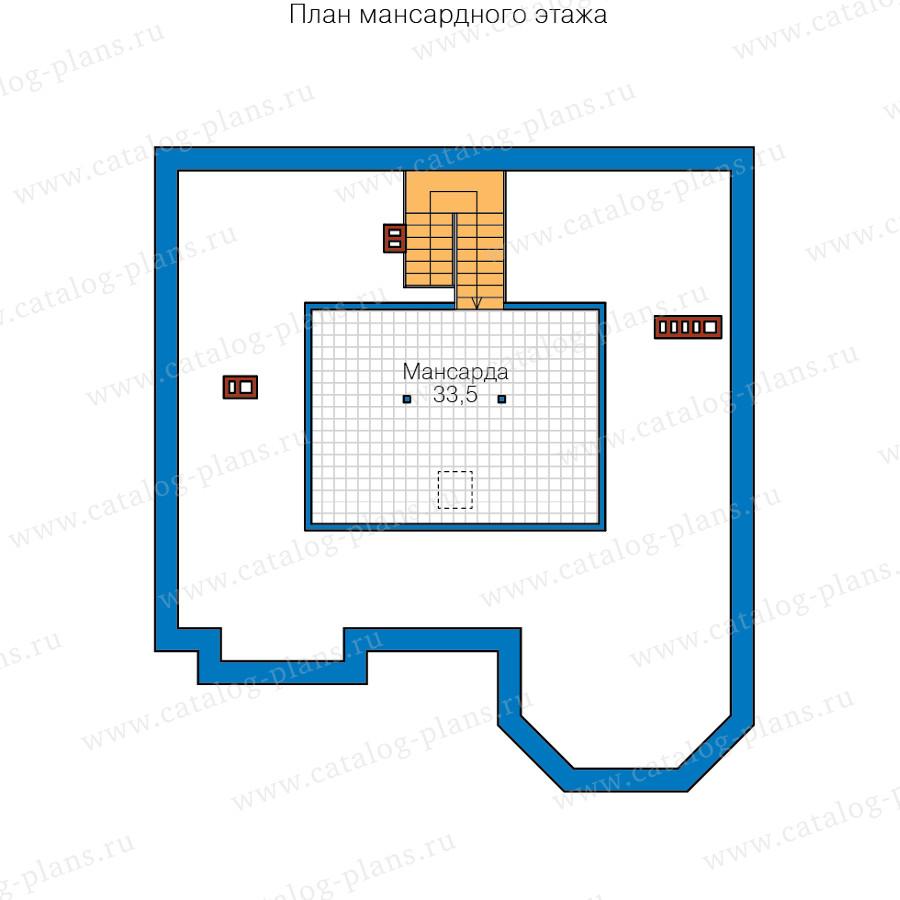 3этаж. План проекта №40-53