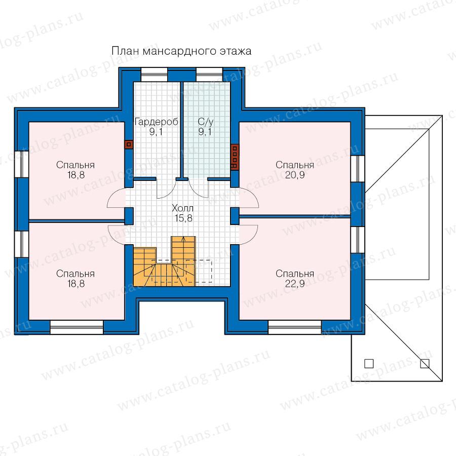 2этаж. План проекта №40-60
