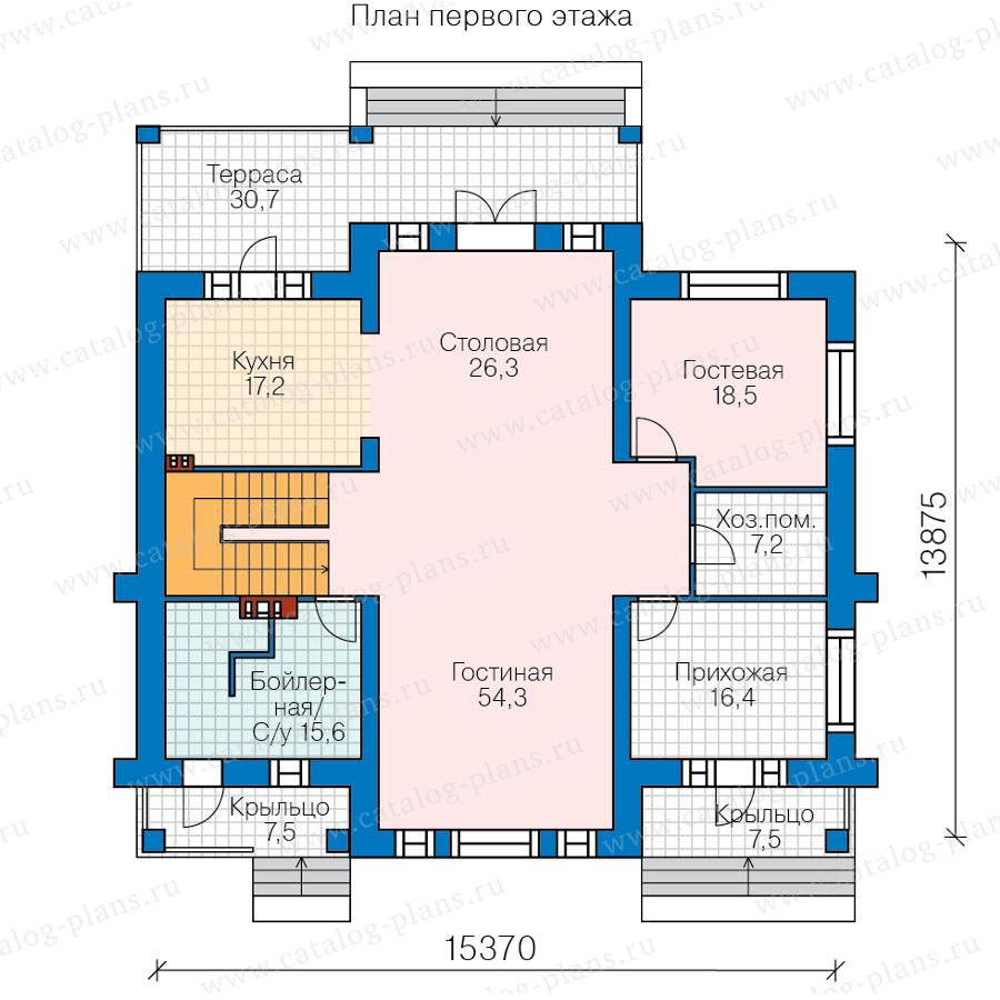 1этаж. План проекта №40-63L