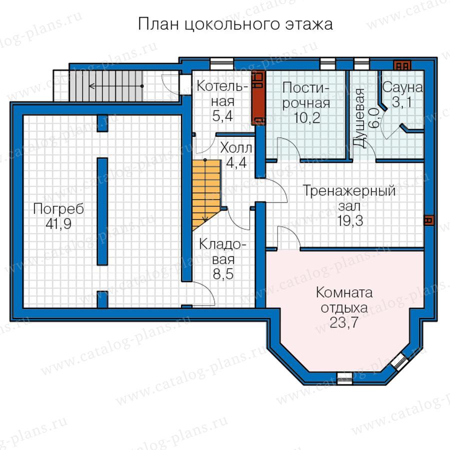 1этаж. План проекта №40-66