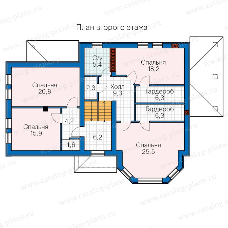 3этаж. План проекта №40-66