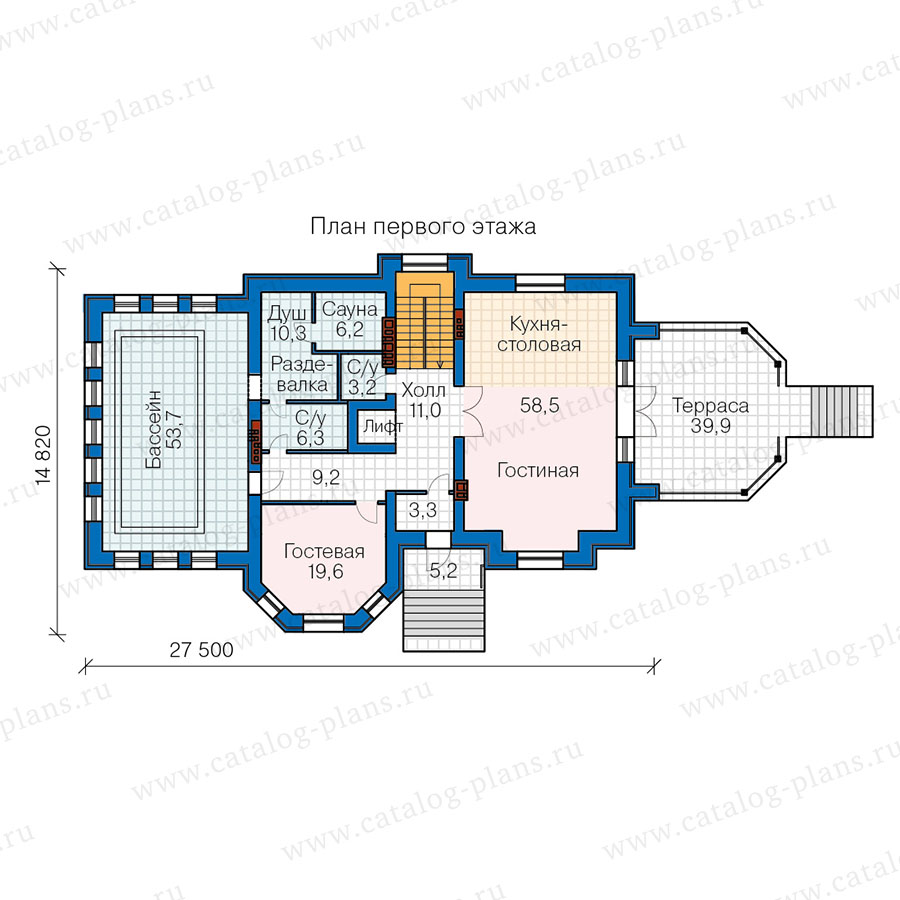 2этаж. План проекта №40-67