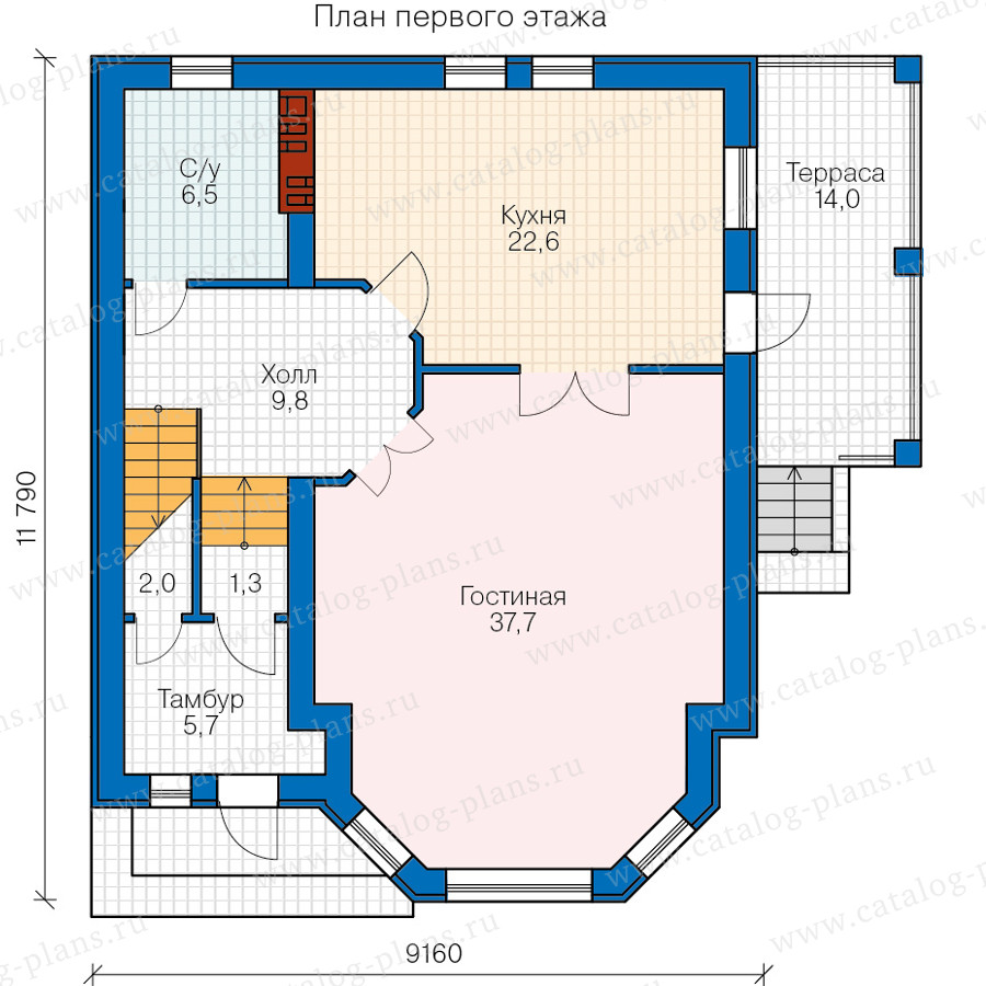 1этаж. План проекта №40-69