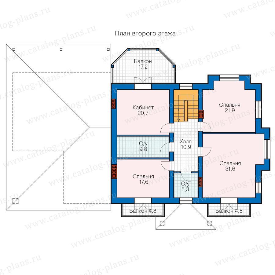 2этаж. План проекта №40-74