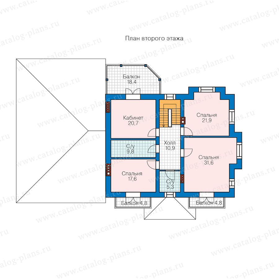 2этаж. План проекта №40-74A
