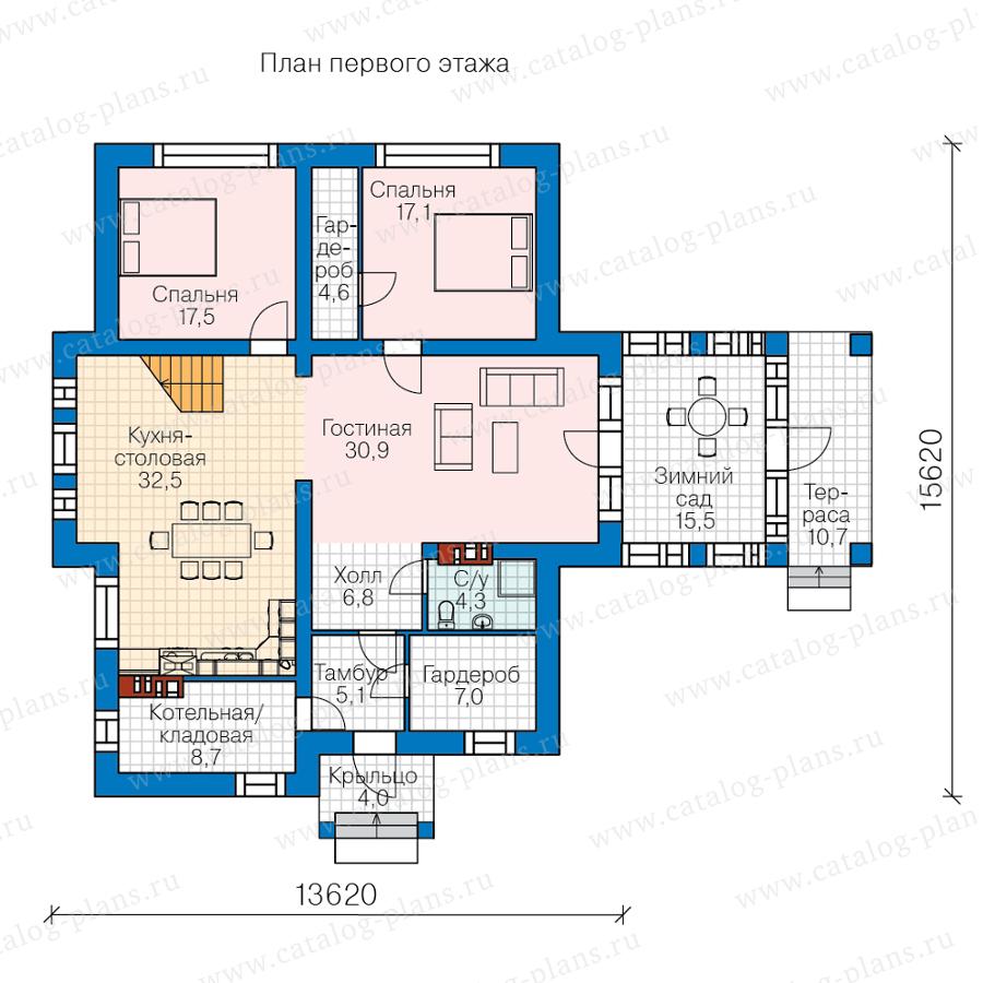 1этаж. План проекта №40-78
