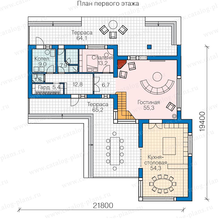 1этаж. План проекта №40-84L