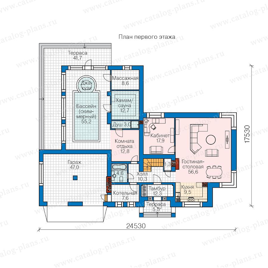 1этаж. План проекта №40-88L