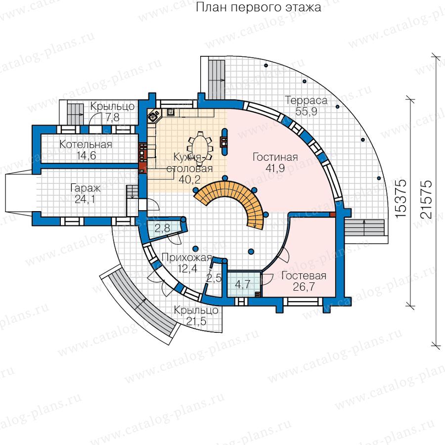 1этаж. План проекта №40-89A