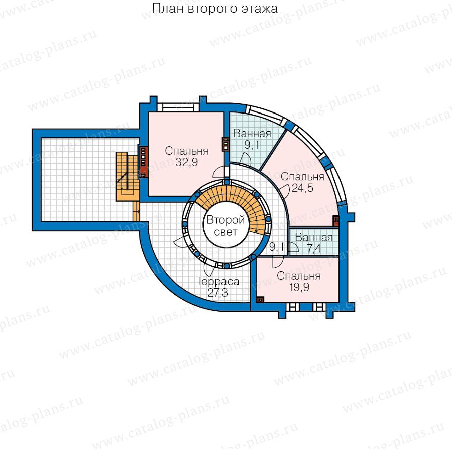 2этаж. План проекта №40-89A