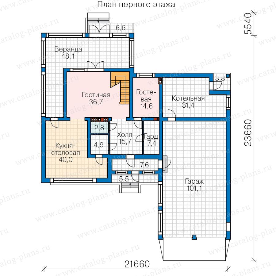 1этаж. План проекта №40-93A
