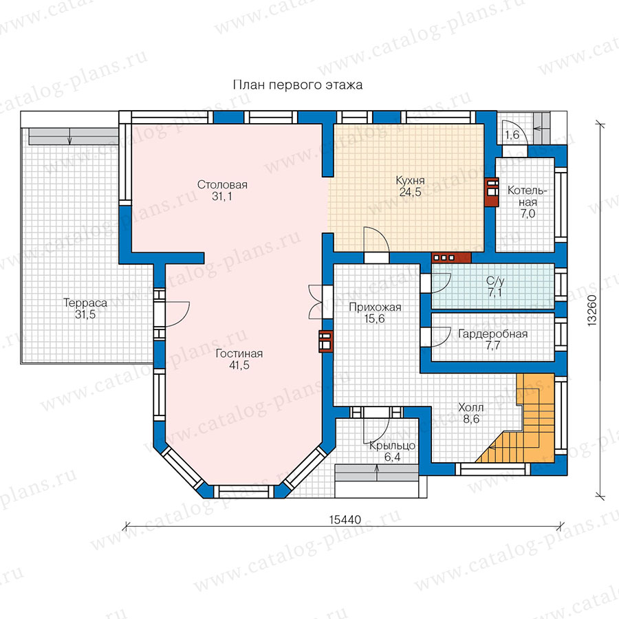 1этаж. План проекта №48-21