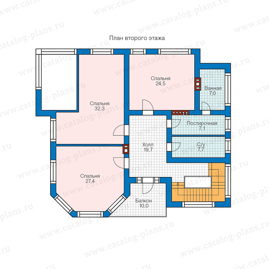 2этаж. План проекта №48-21