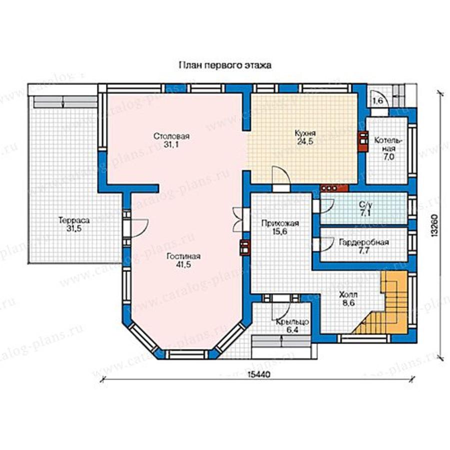 1этаж. План проекта №48-21AG