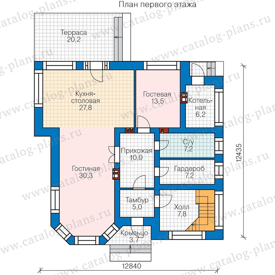 1этаж. План проекта №48-21B