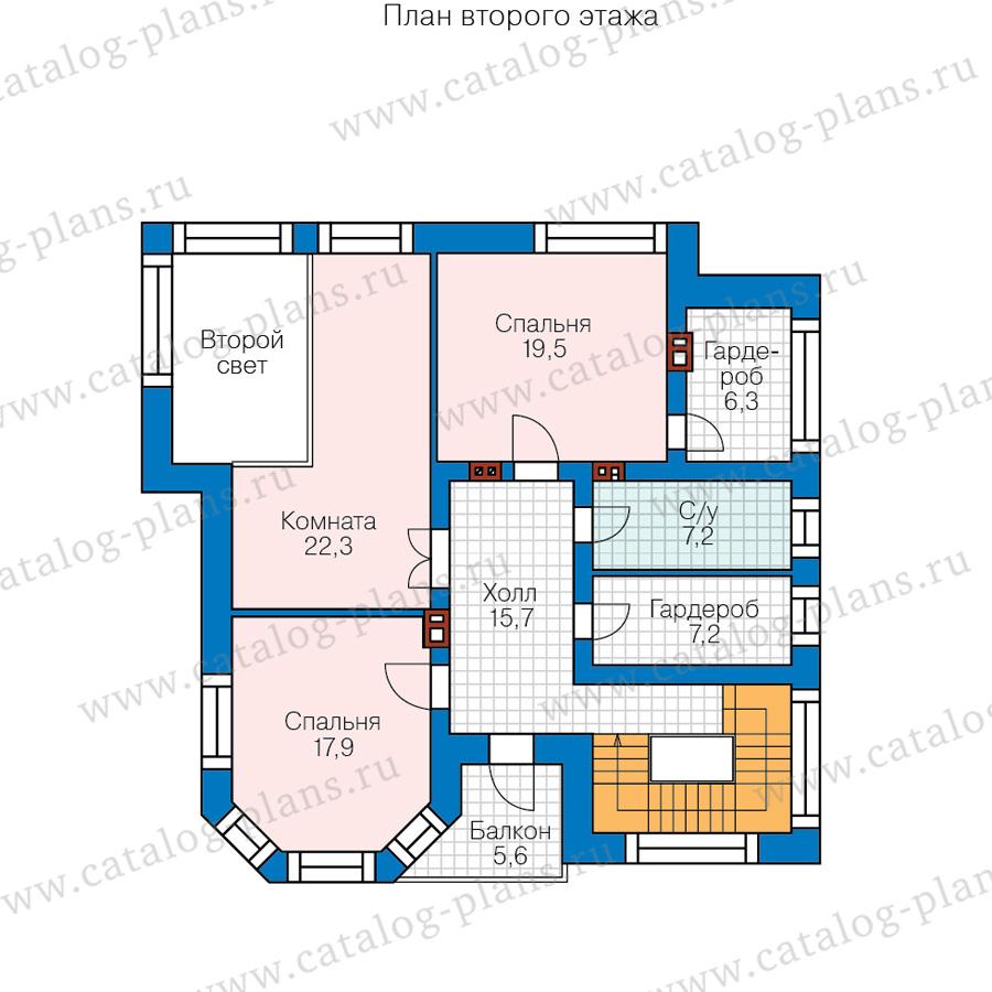 2этаж. План проекта №48-21B