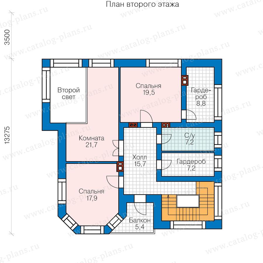 2этаж. План проекта №48-21C