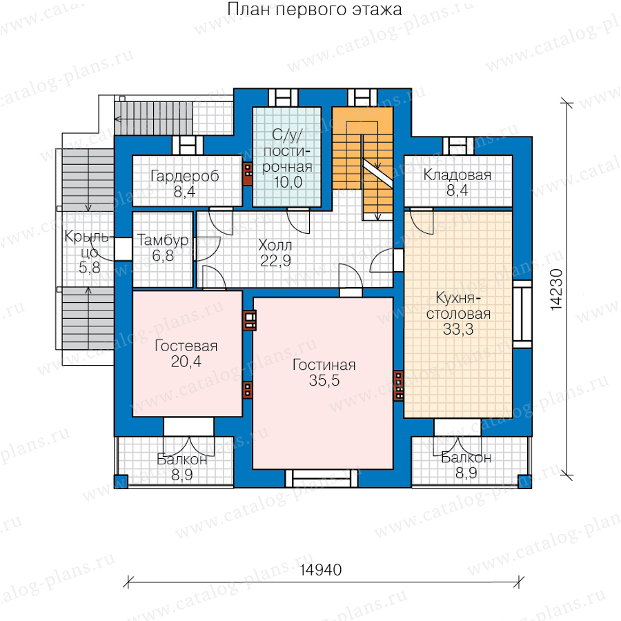 2этаж. План проекта №48-23CL