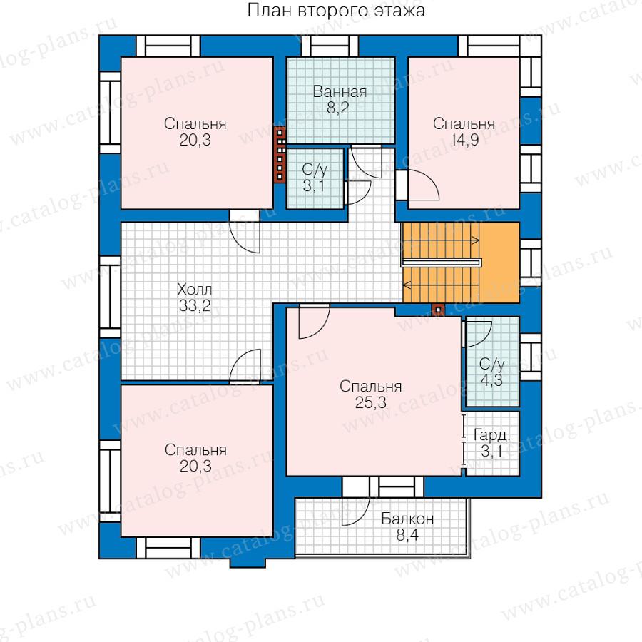 2этаж. План проекта №48-24B