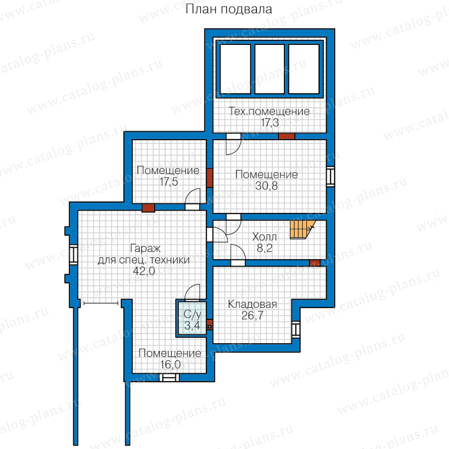 1этаж. План проекта №48-24CG
