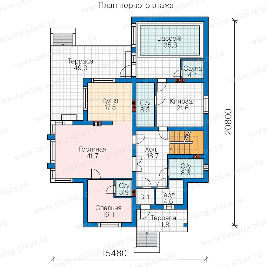 2этаж. План проекта №48-24CG
