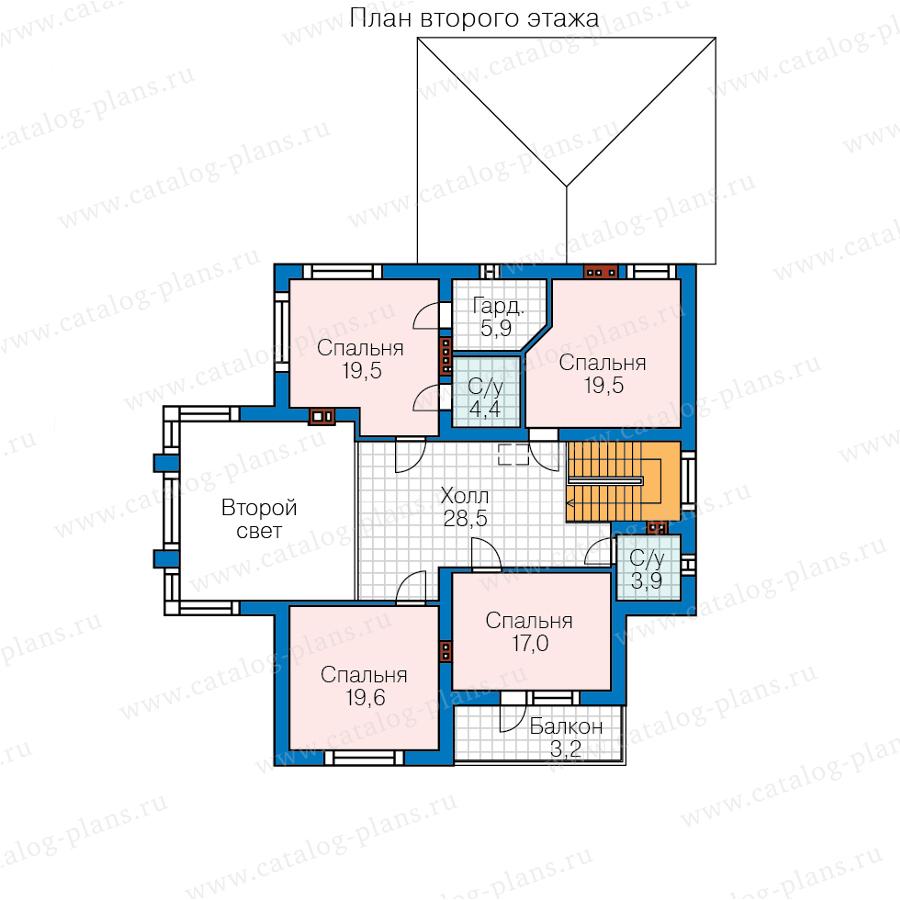 3этаж. План проекта №48-24CG