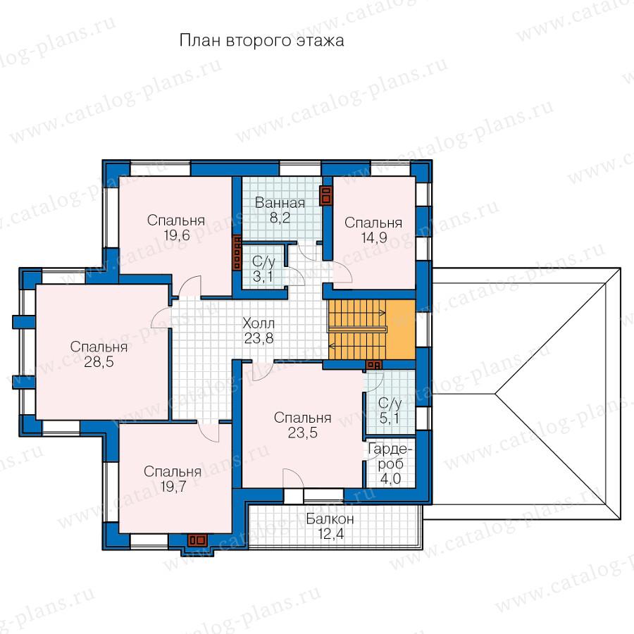 2этаж. План проекта №48-24D
