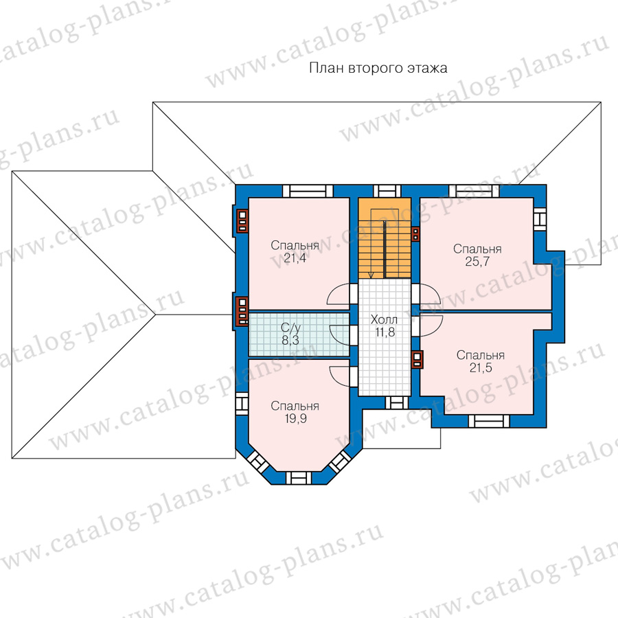 2этаж. План проекта №48-29C
