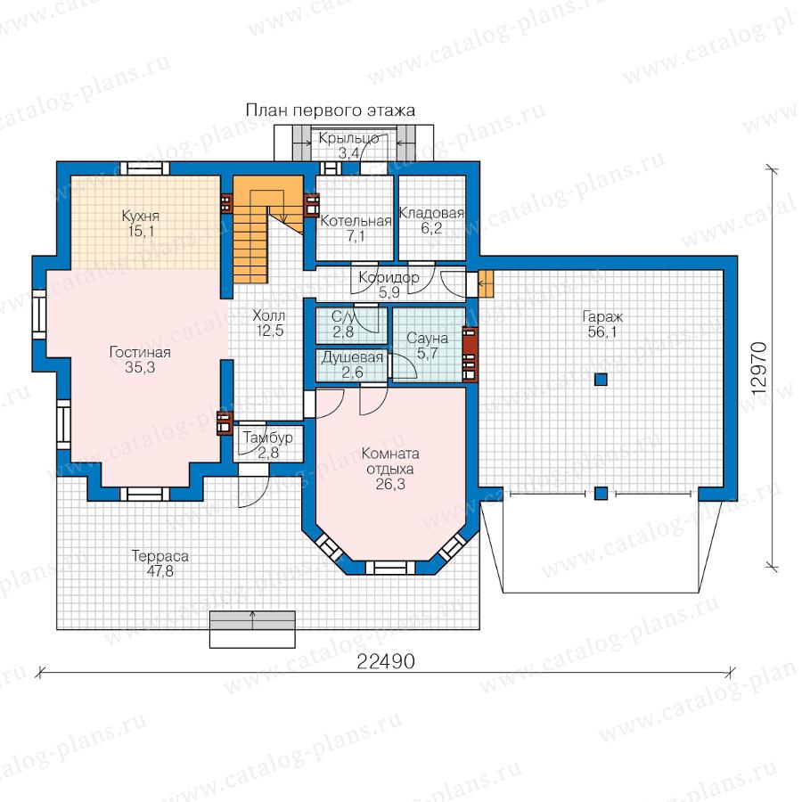 1этаж. План проекта №48-29P