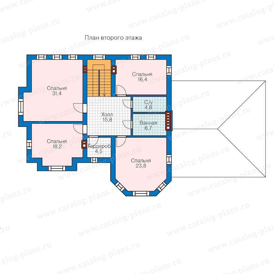 2этаж. План проекта №48-29P