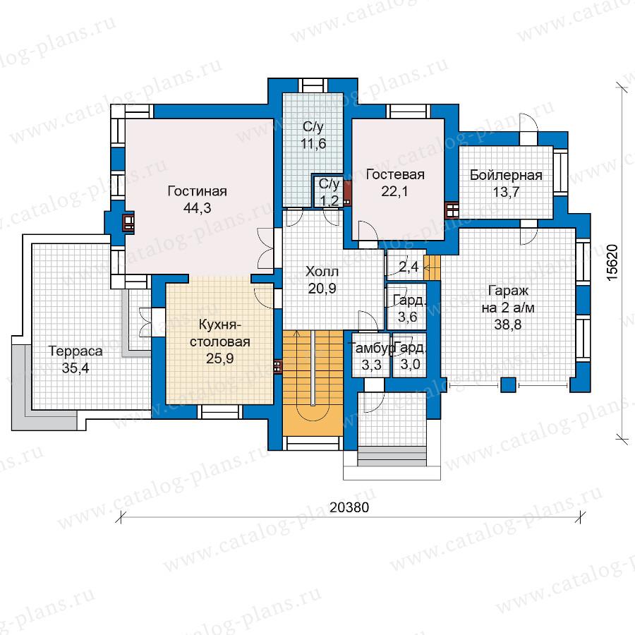 1этаж. План проекта №48-30