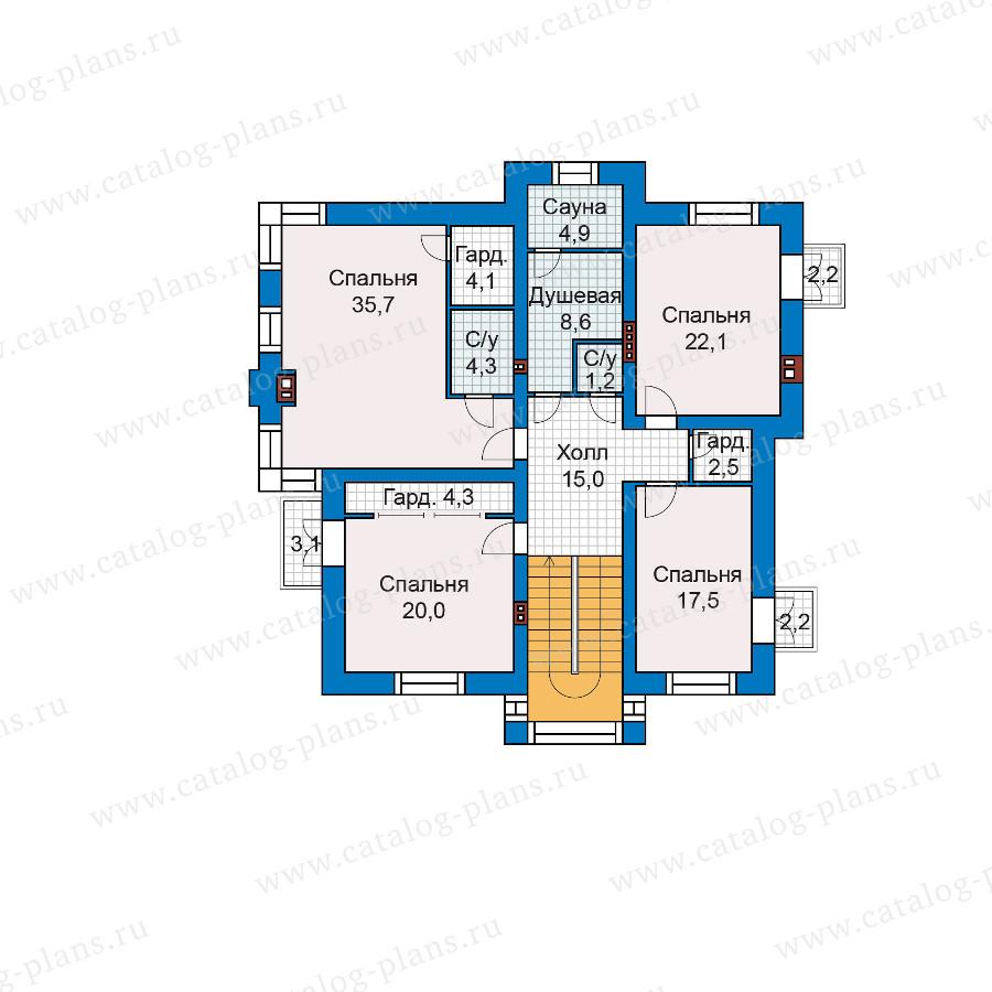 2этаж. План проекта №48-30