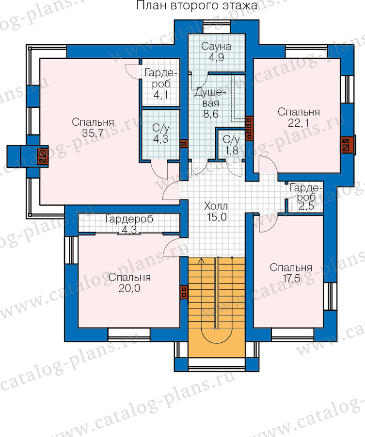 2этаж. План проекта №48-30AG