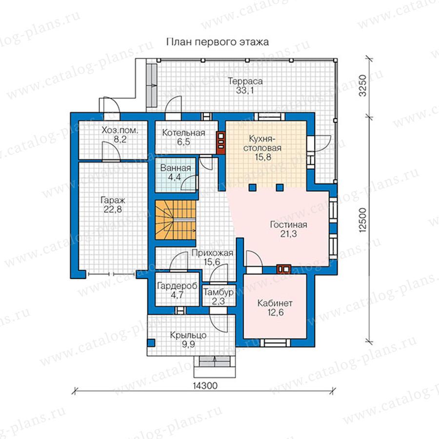 1этаж. План проекта №57-00BK