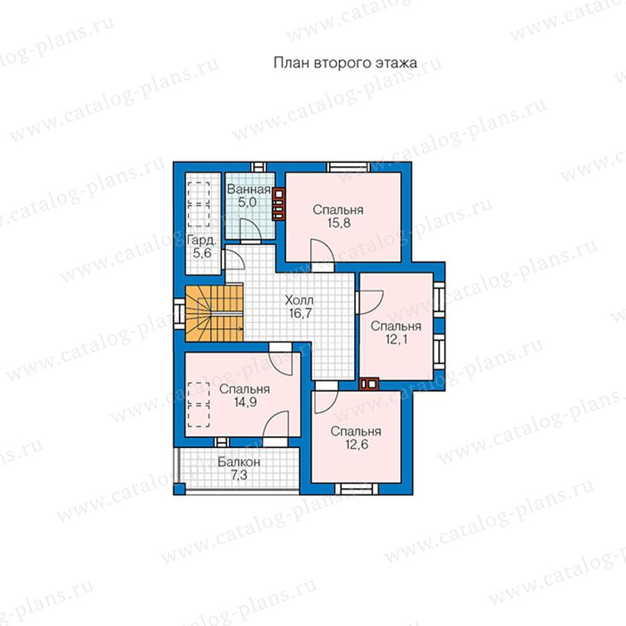 2этаж. План проекта №57-00BK