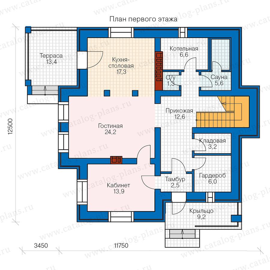 1этаж. План проекта №57-00D
