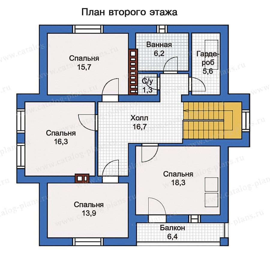 2этаж. План проекта №57-00K
