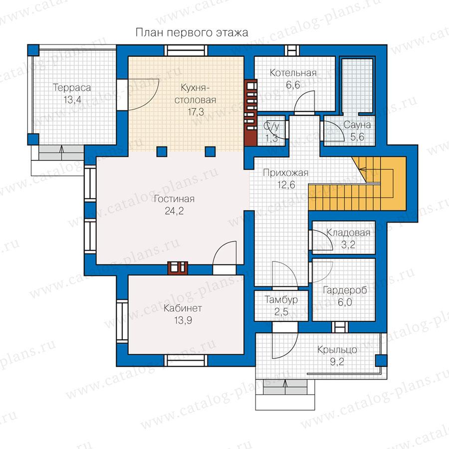 1этаж. План проекта №57-00L