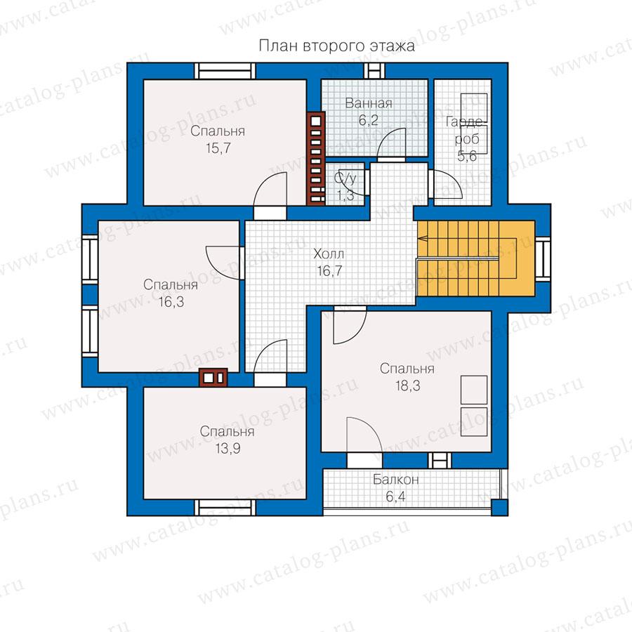 2этаж. План проекта №57-00L