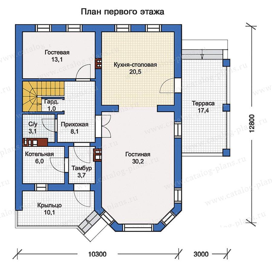 1этаж. План проекта №57-01