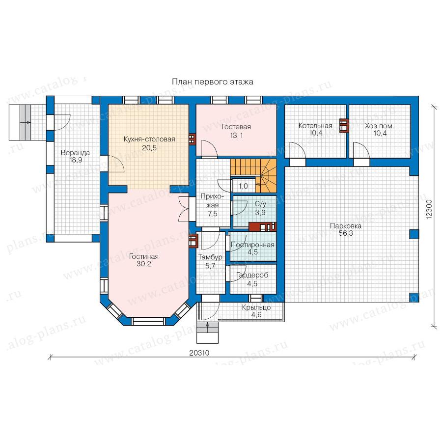 1этаж. План проекта №57-01AK