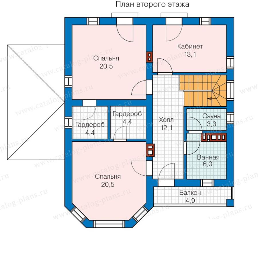 2этаж. План проекта №57-01AK