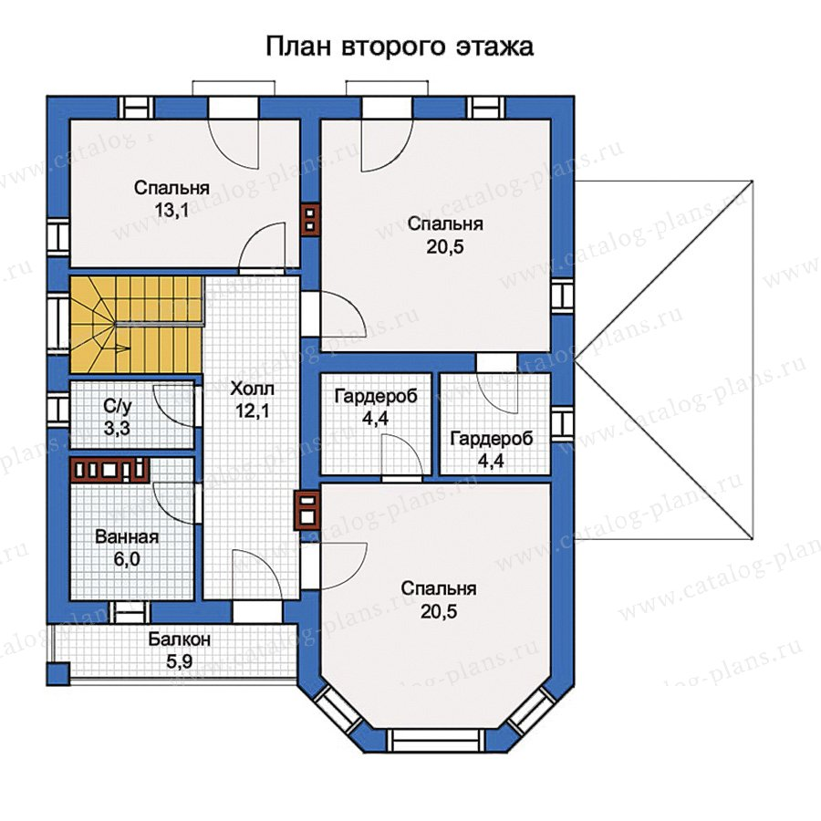 2этаж. План проекта №57-01K