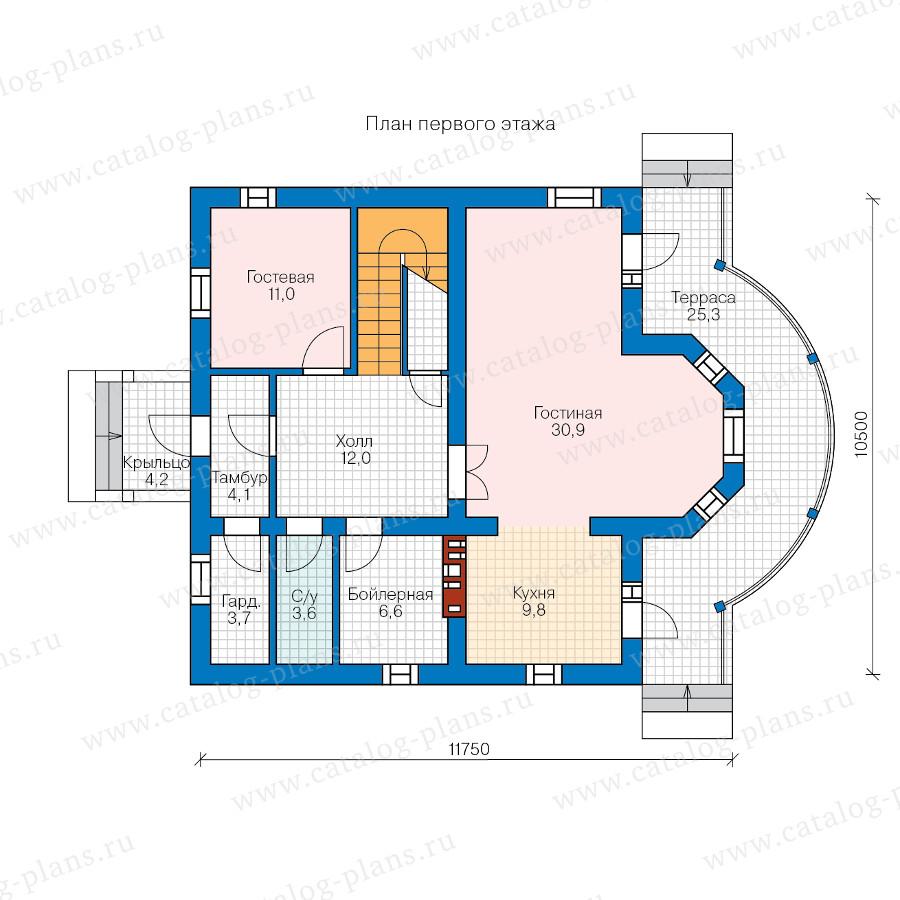 1этаж. План проекта №57-02A
