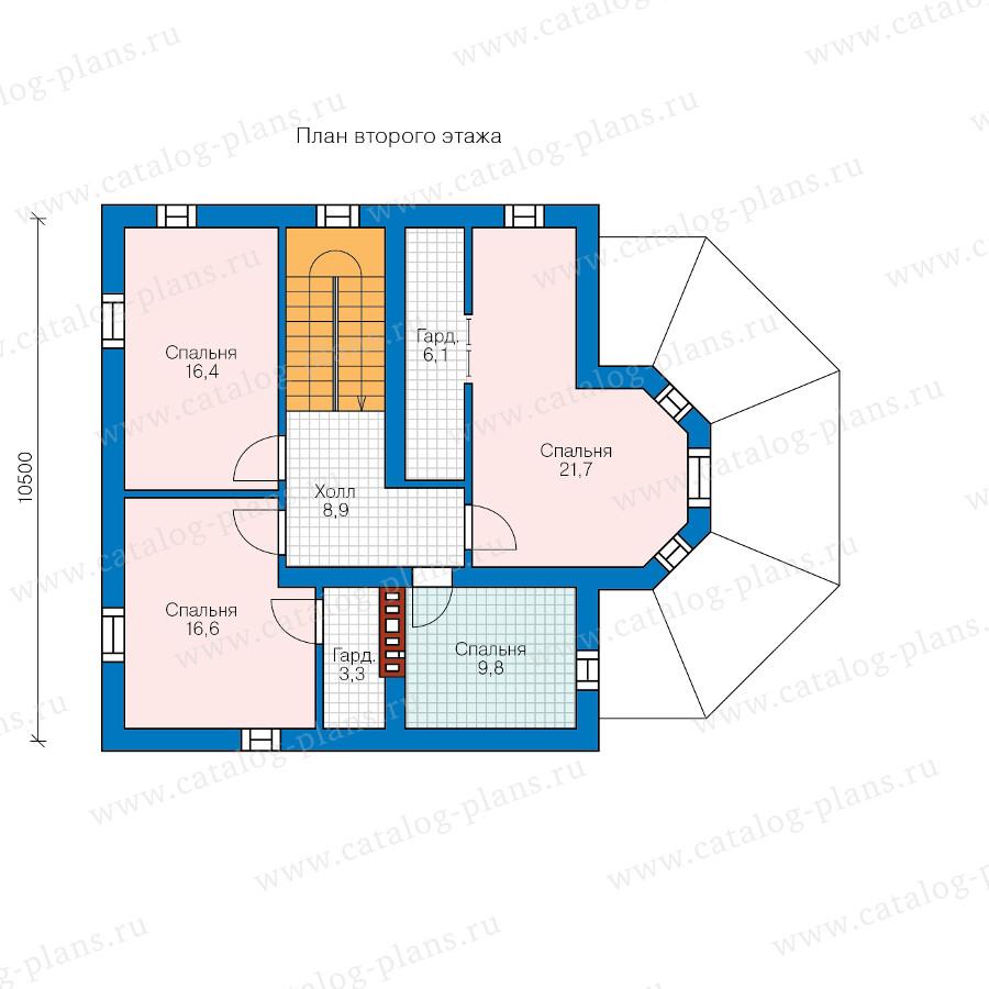 2этаж. План проекта №57-02A