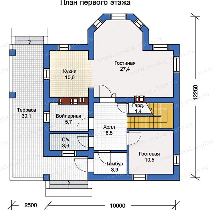 1этаж. План проекта №57-02K