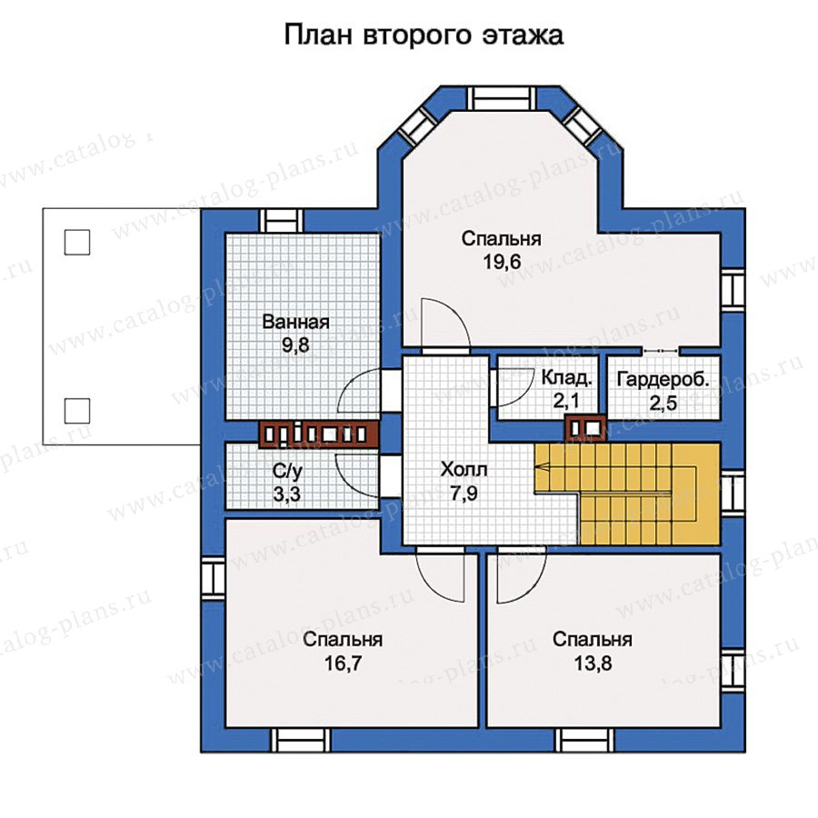2этаж. План проекта №57-02K