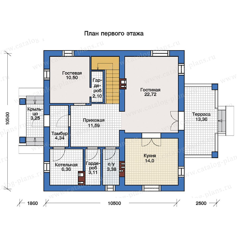 1этаж. План проекта №57-05