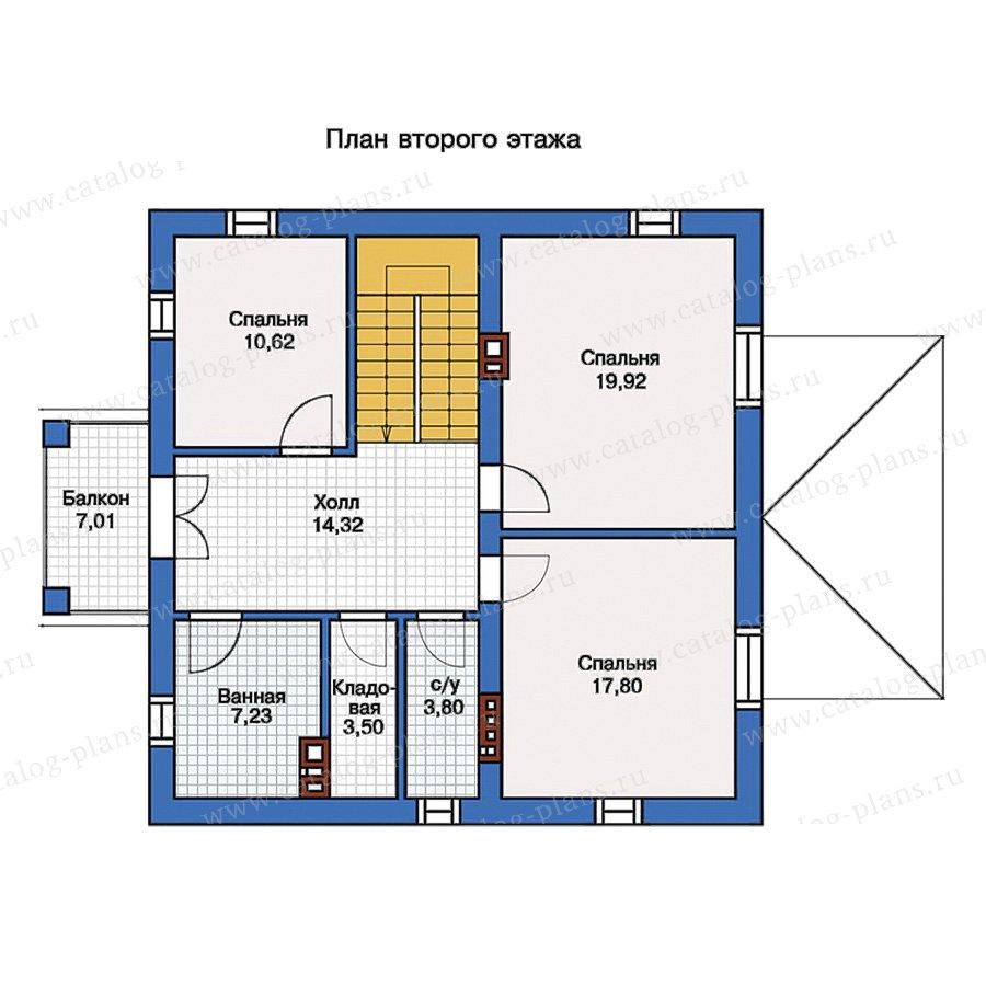 2этаж. План проекта №57-05