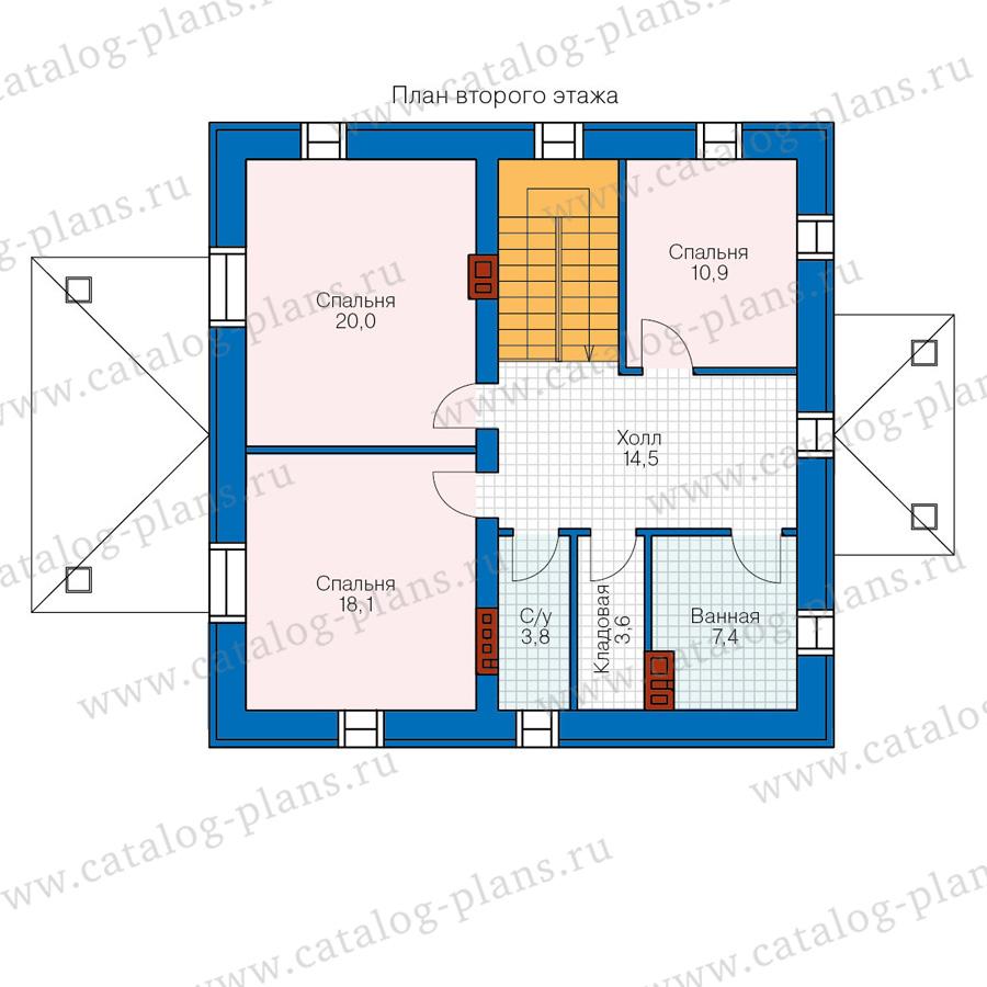 2этаж. План проекта №57-05AG
